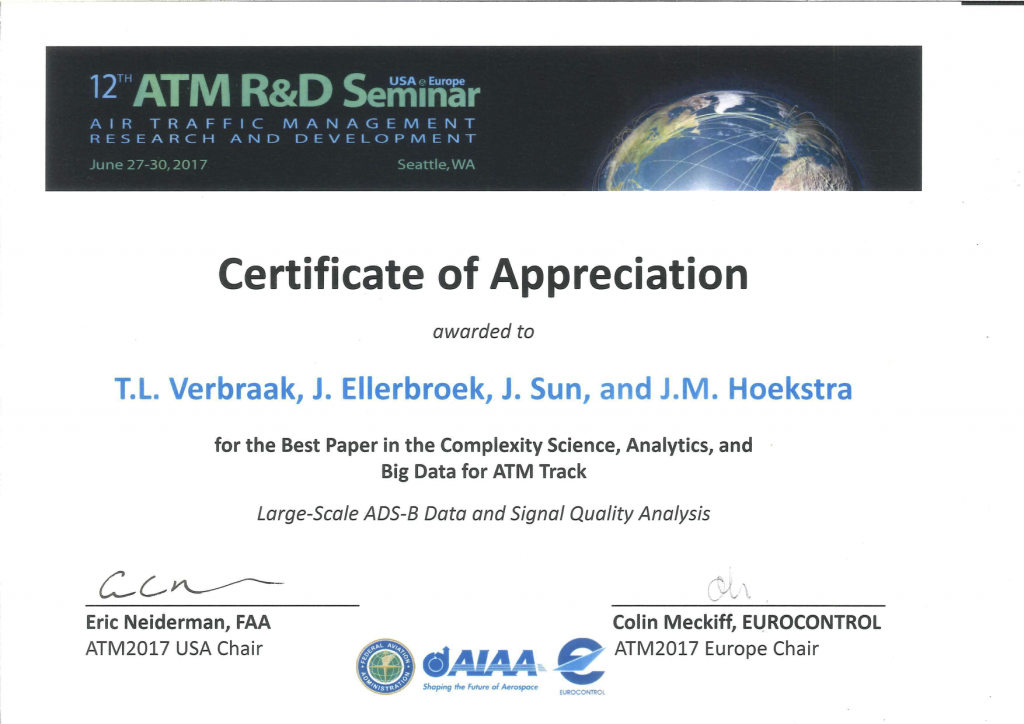Best paper award at ATM Seminar 2017