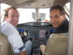 Re-equipped Citation makes first precision landing using satellite navigation