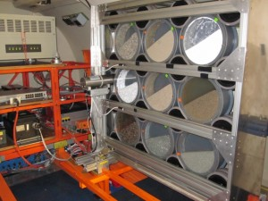 The experimental setup of Utrecht with 9 rotating drums