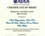 AIAA Modeling and Simulation Best Paper Award