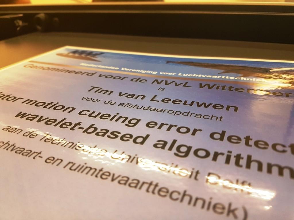Best MSc graduate of AE 2016-2017: ir. Tim van Leeuwen