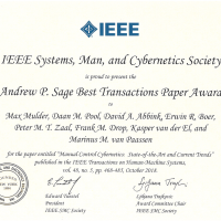 Picture of Andrew P. Sage Best Transaction Paper for cybernetics review paper!