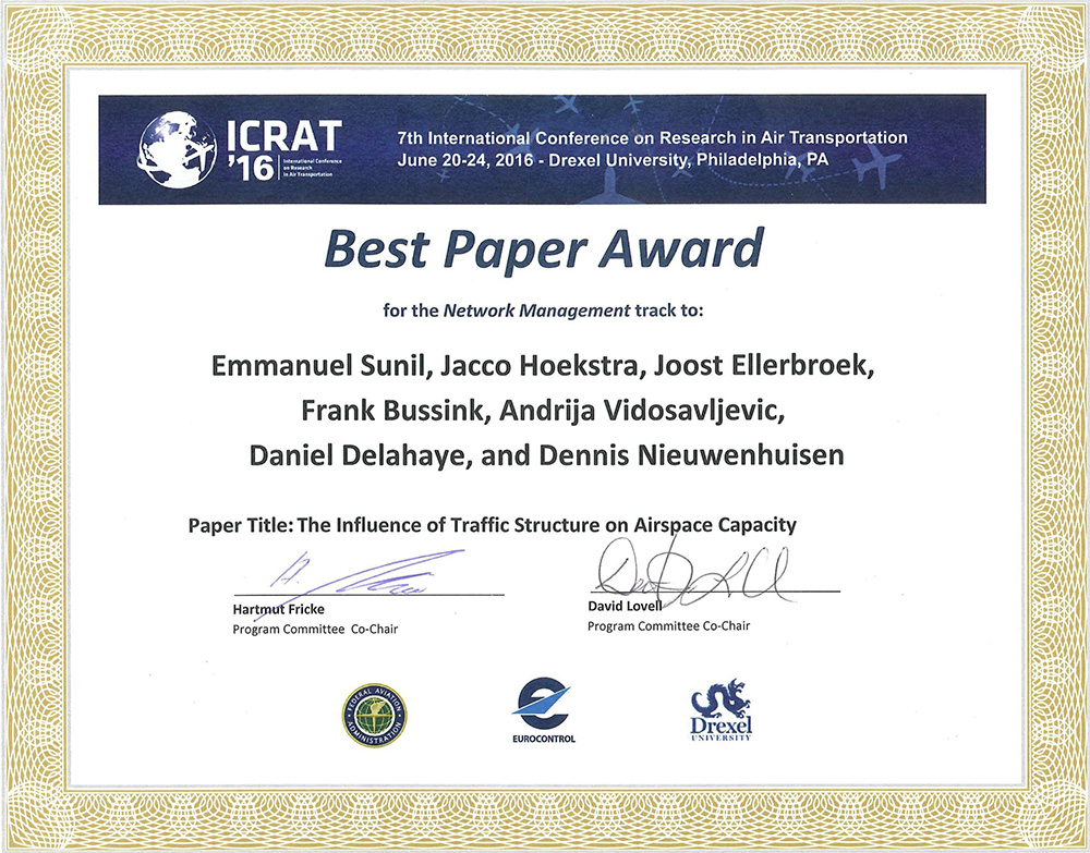 Best paper award for Emmanuel Sunil