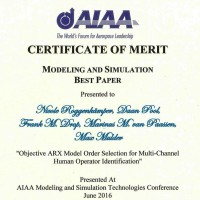 Picture of AIAA Modeling and Simulation Best Paper Award