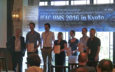 Frank Drop wins IFAC HMS Young Author Best Paper Award