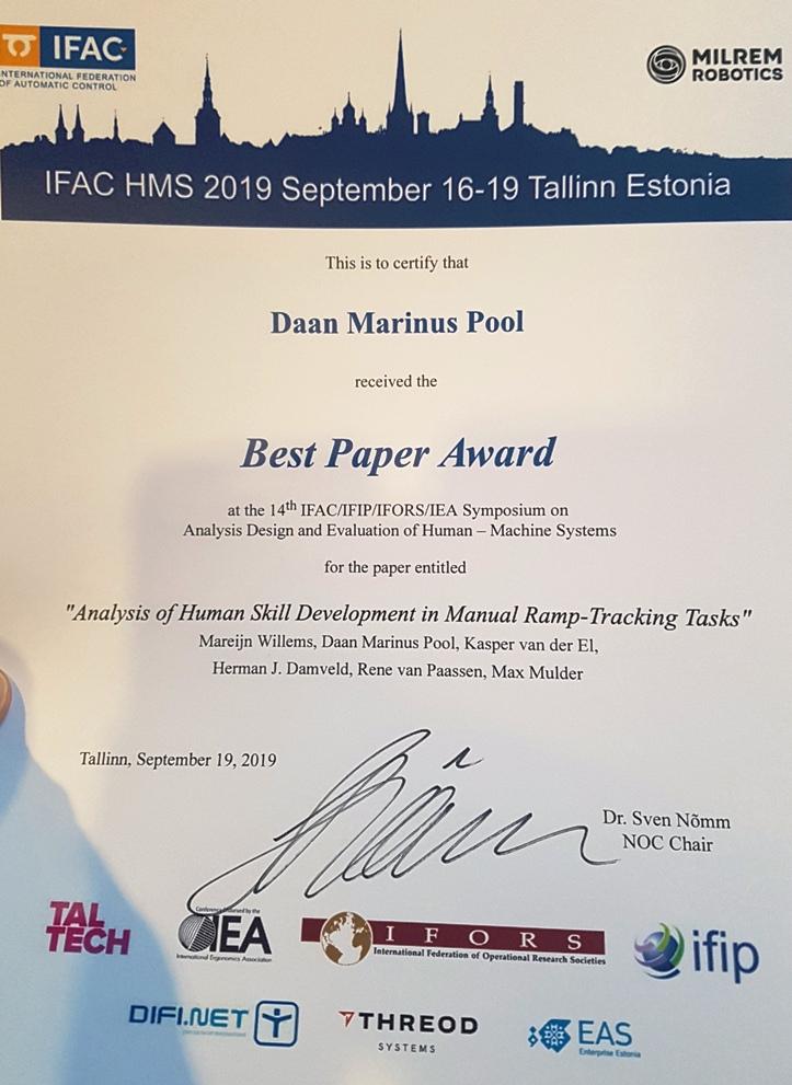 IFAC HMS 2019 Best Paper Award