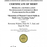 AIAA Modeling and Simulation Best Paper Award Rowenna Wijlens